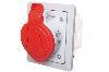 ELEKTROMET GNIAZDO SKOŚNE PODTYNKOWE Z RAMKĄ IP44 32A 400V 3P+N+Z