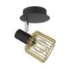 Zuma Line MARTIN WALL CK171206-1 transparentny kinkiet E14 czarny/złoty RABATY w koszyku, żarówka/żarówki LED gratis!