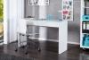 King Home biurko SENSATION BT34WE/HYZ1-1, białe, wysoki połysk