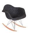 King Home Fotel bujany PLUSH zebra czarna podstawa bukowa RABATY w koszyku, żarówka/żarówki LED gratis!