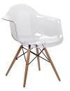 King Home Fotel ICE transparentny poliweglan, buk RABATY w koszyku, żarówka/żarówki LED gratis!