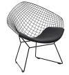 King Home Fotel VOLIER SOFT czarne / poduszka czarna RABATY w koszyku, żarówka/żarówki LED gratis!