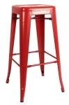King Home Hoker TOWER 76cm czerwony metal RABATY w koszyku, żarówka/żarówki LED gratis!