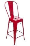 King Home Hoker TOWER BACK 66cm czerwone metal RABATY w koszyku, żarówka/żarówki LED gratis!
