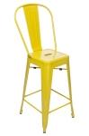 King Home Hoker TOWER BACK 66cm żółte metal RABATY w koszyku, żarówka/żarówki LED gratis!