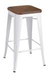 King Home Hoker TOWER WOOD 65cm biały sosna antyczna,metal RABATY w koszyku, żarówka/żarówki LED gratis!
