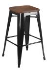 King Home Hoker TOWER WOOD 65cm czarny sosna antyczna, metal RABATY w koszyku, żarówka/żarówki LED gratis!