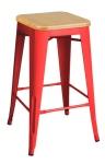 King Home Hoker TOWER WOOD 65cm czerwony jesion, metal RABATY w koszyku, żarówka/żarówki LED gratis!