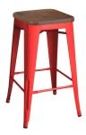 King Home Hoker TOWER WOOD 65cm czerwony sosna antyczna, metal RABATY w koszyku, żarówka/żarówki LED gratis!