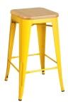 King Home Hoker TOWER WOOD 65cm żółty jesion, metal RABATY w koszyku, żarówka/żarówki LED gratis!