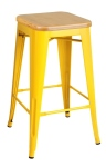 King Home Hoker TOWER WOOD 65cm żółty jesion, metal