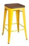 King Home Hoker TOWER WOOD 65cm żółty sosna antyczna, metal RABATY w koszyku, żarówka/żarówki LED gratis!
