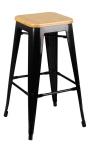 King Home Hoker TOWER WOOD 75cm czarny jesion/metal RABATY w koszyku, żarówka/żarówki LED gratis!