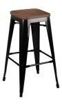 King Home Hoker TOWER WOOD 75cm czarny sosna antyczna/metal RABATY w koszyku, żarówka/żarówki LED gratis!