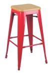 King Home Hoker TOWER WOOD 75cm czerwony jesion/metal RABATY w koszyku, żarówka/żarówki LED gratis!