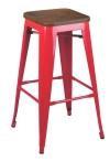 King Home Hoker TOWER WOOD 75cm czerwony sosna antyczna/metal RABATY w koszyku, żarówka/żarówki LED gratis!