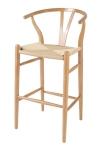 King Home hoker WISHBONE natural drewno bukowe, naturalne włókno WS-001H RABATY w koszyku!