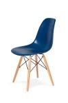 King Home Krzesło DSW WOOD atramentowe.27 podstawa drewniana bukowa RABATY w koszyku, żarówka/żarówki LED gratis!