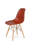 King Home Krzesło DSW WOOD ceglaste.28 podstawa drewniana bukowa RABATY w koszyku, żarówka/żarówki LED gratis!