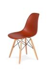 King Home Krzesło DSW WOOD ceglaste.28 podstawa drewniana bukowa