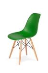 King Home Krzesło DSW WOOD irlandzka zieleń.21 podstawa drewniana bukowa RABATY w koszyku, żarówka/żarówki LED gratis!