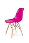 King Home Krzesło DSW WOOD wściekły róż.22 podstawa drewniana bukowa RABATY w koszyku, żarówka/żarówki LED gratis!