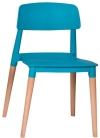 King Home Krzesło ECCO PREMIUM turkusowe polipropylen, podstawa bukowa