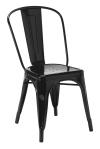 King Home Krzesło TOWER czarne metal RABATY w koszyku!