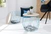King Home Stolik CAPS LARGE niebieski z miejscem do przechowywania RABATY w koszyku, żarówka/żarówki LED gratis!