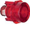Akcesoria osprzęt Przycisk do łącznika i sygnalizatora E10, czerwony przezroczysty
