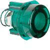 Akcesoria osprzęt Przycisk do łącznika i sygnalizatora E10, zielony przezroczysty