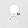B.x/S.1 Płytka czołowa do gniazda głośnikowego i przyłączy miniaturowych, biały, połysk