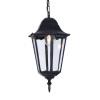 Kaja lampa wisząca zewnętrzna Lozana E27 czarna K-5006H CZARNY, RABATY w koszyku, żarówka/żarówki LED gratis!