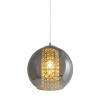 Zuma Line lampa wisząca Ivia E27 chrom/dymione szkło P12082D-D25
