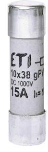 ETI Wkładka topikowa cylindryczna PV CH10x38 gPV 15A/1000V DC UL 002625112 fotowoltaika